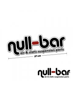 null-bar Frontscheibenaufkleber - 37cm
